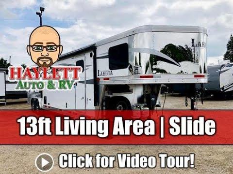 Lakota Charger 8X13RKS Living Quarter All Aluminium Gooseneck Horse Trailer