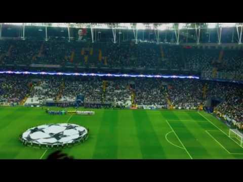 Besiktas Vodafone Arena ilk Şampiyonlar Ligi müziği