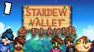 Willy's Rod - #1 -Stardew Valley Multiplayer BETA! (4-Player Gameplay)
