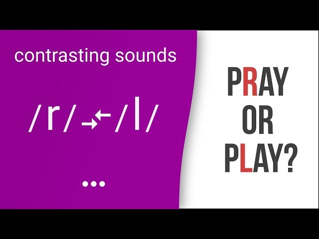 Pray or Play? Rain or Lane? American English Pronunciation