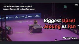 2019 Korea Open MS QF 최대이변 정영식…