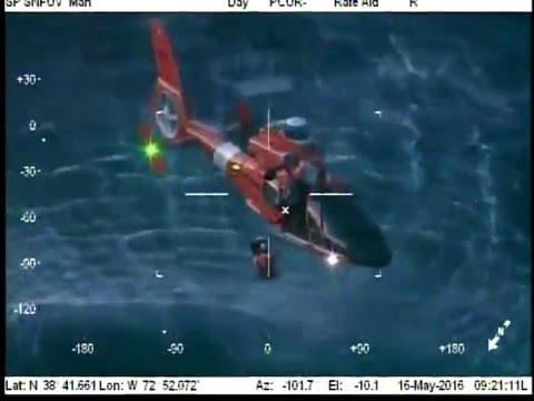 U.S. Coast Guard makes dramatic rescue off Atlantic City coast