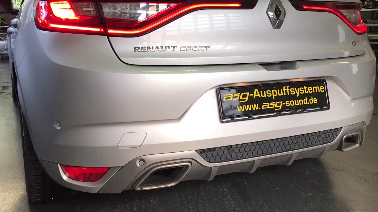 Renault Megane 4 Energy Tce 205 Edc 1 6l Turbo Ps Sportauspuff By Asg Sound