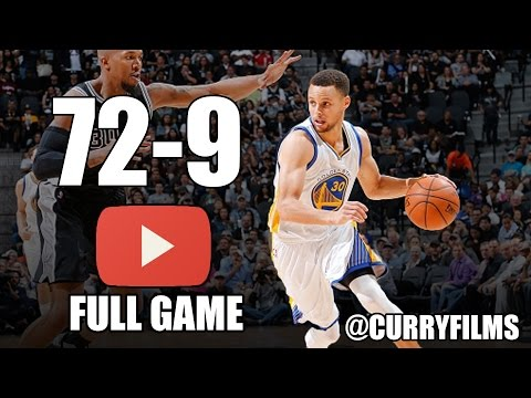 Golden State Warriors vs San Antonio Spurs - Full Game Highlights - April 10, 2016 - 2016 NBA Season