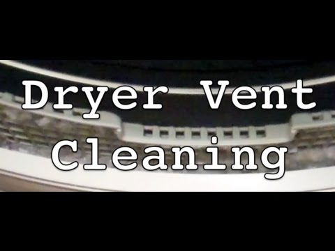 Dryer Vent Cleaning/Lint Removal - Kenmore Elite shown
