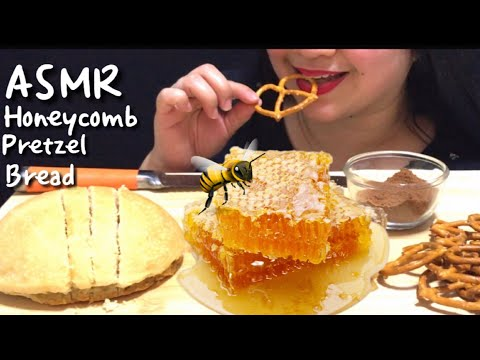 asmr-honeycomb-*no-talking-*messy-eating벌집-먹기تناول-العسل