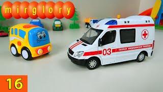 Машинки мультфильм - Город машинок - 16 серия: Ремонт машины скорой помощи. Развивающие мультики