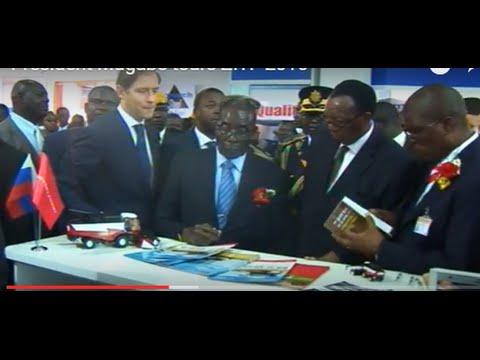 President Mugabe tours  ZITF 2016