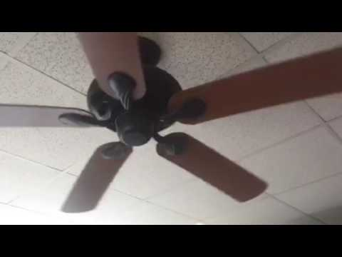 52 Quot Hampton Bay Quick Connect Ceiling Fan Remake Youtube
