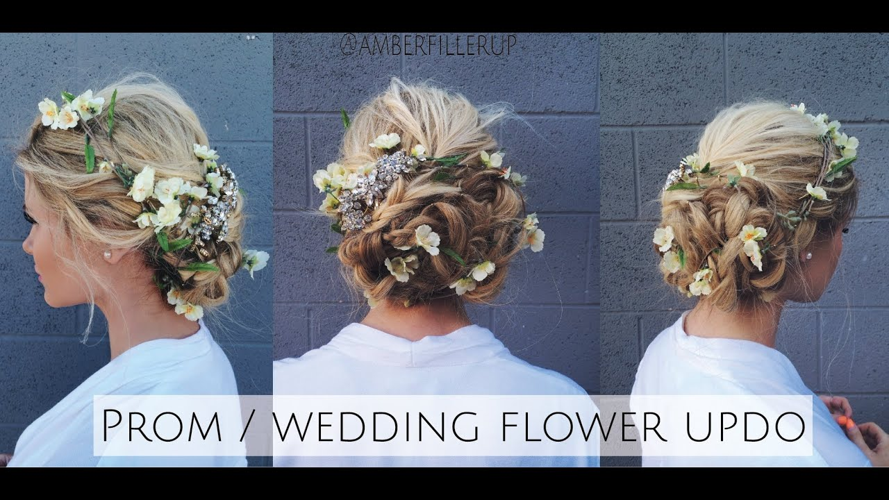 Tutorial Prom Wedding Braided Flower Up Do Inspired By Dolce Amp Gabbana Runway Youtube