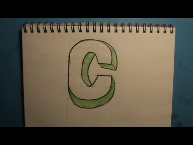 How to Draw the Letter C in 3D #1