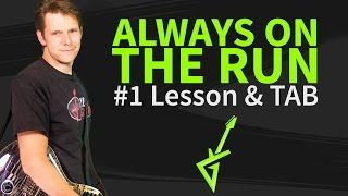 How to play Always On The Run Guitar Lesson & TAB - Lenny Kravitz