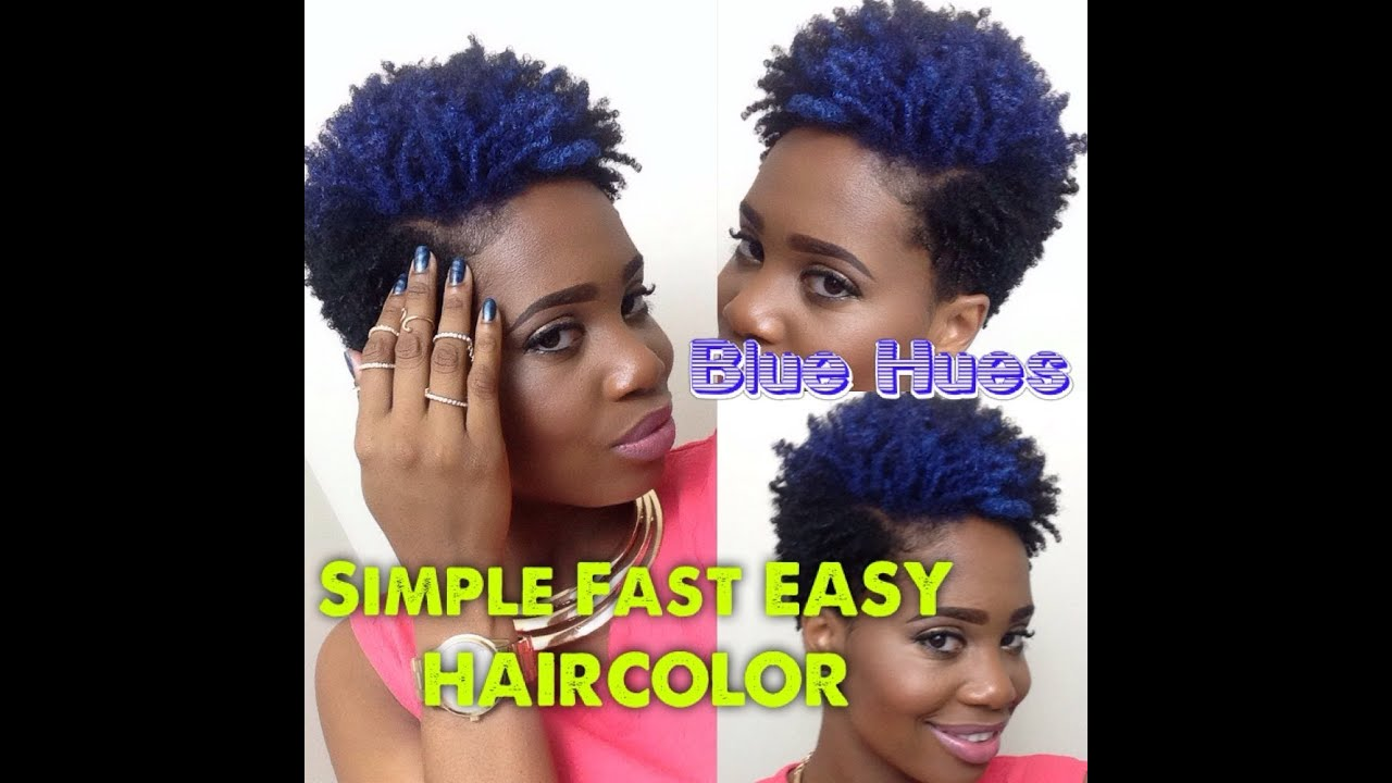 Blue Hues Fast Simple Easy Temporary Hair Color Youtube