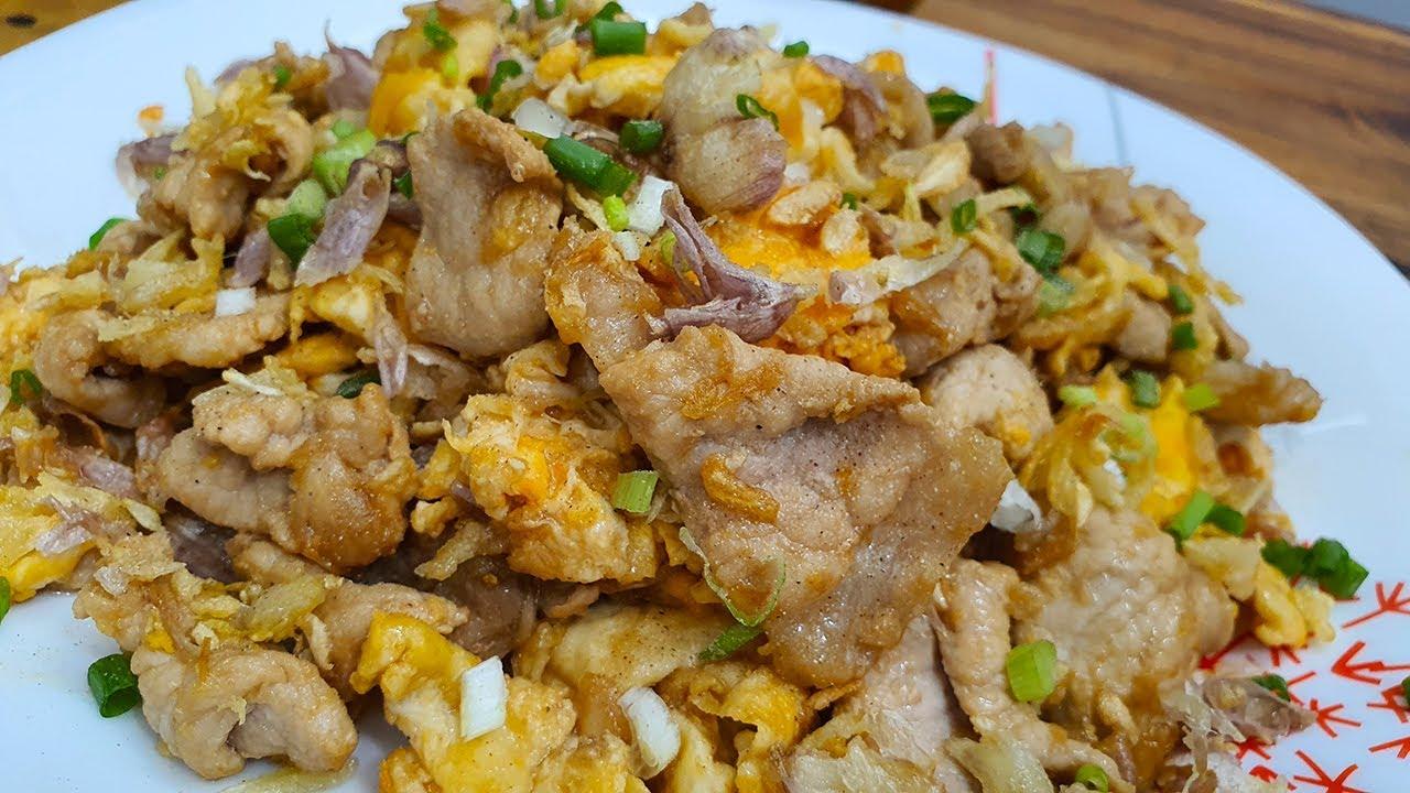 หมูกระเทียมผัดไข่ เมนูจานด่วน ง่ายๆ อร่อยๆ