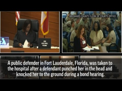 DJ KS-1 - FLORIDA MAN IN THE NEWS AGAIN THIS TIME HITTING A PUBIC DEFENDER IN COURT