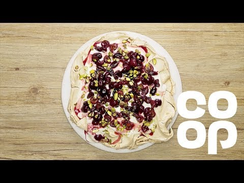Co-op| Cherry & Pistachio Brown Sugar Pavlova