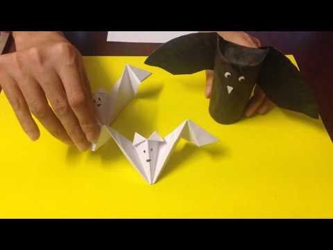 How to Make an Easy Paper Bat for Halloween Decorations