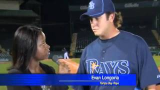 Evan Longoria's Catch saves Reporter's Life!