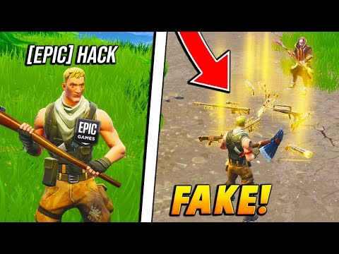 I FAKED being an EPIC GAMES STAFF spawning in WEAPONS! (Fortnite Battle Royale)
