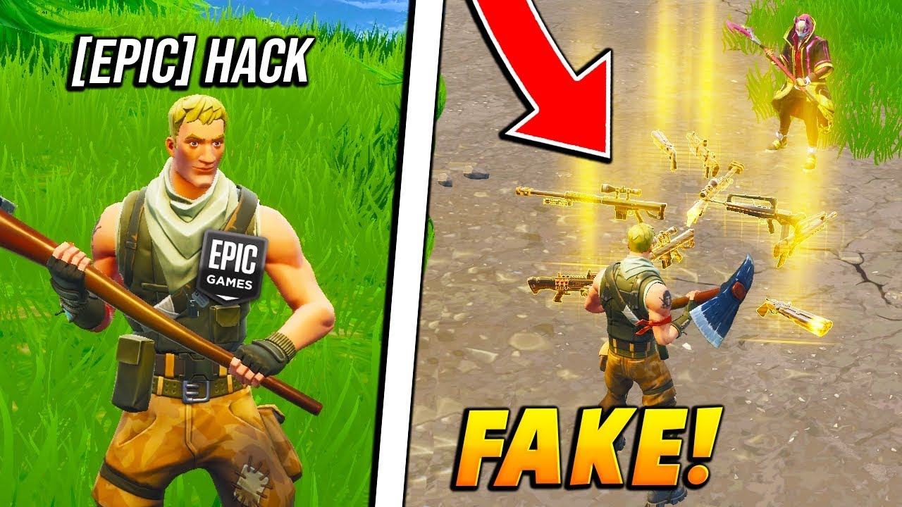 I FAKED being an EPIC GAMES STAFF spawning in WEAPONS ...