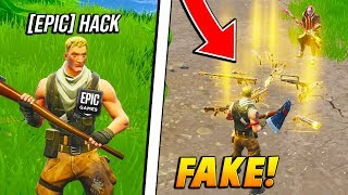 Download Video I FAKED being an EPIC GAMES STAFF spawning in WEAPONS! (Fortnite Battle Royale) MP3 3GP MP4