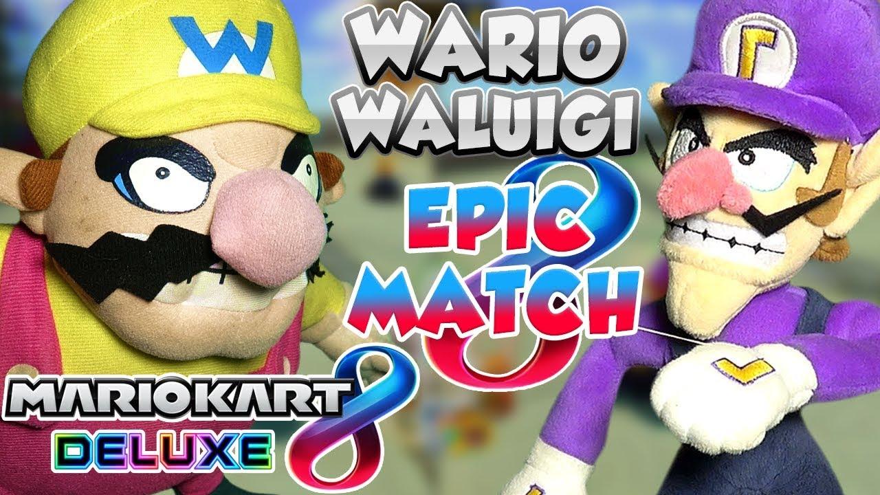 ABM: Wario Vs Waluigi !! Mario Kart 8 Deluxe !! Race & Battle Match !! ᴴᴰ