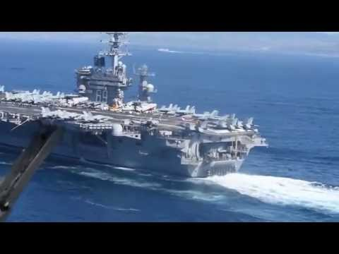 USS Dwight D. Eisenhower transits through into the Mediterranean Sea.