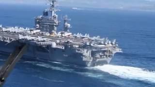 USS Dwight D. Eisenhower transits through into the Mediterranean Sea.