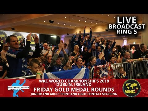 Ring 5 (2) Friday Fighting Gold Medal Rounds | 2018 WKC World Championships In Dublin Ireland