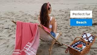 Sun Society Beach Towels, Premium Turkish Beach Towels, Peshtemals, Foutas