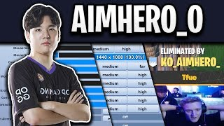 AIMHERO'S Fortnite Settings and Keybinds (DESTROYED TFUE)