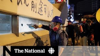 Hong Kong police break up protest with rubber bullets, brace for weekend violence