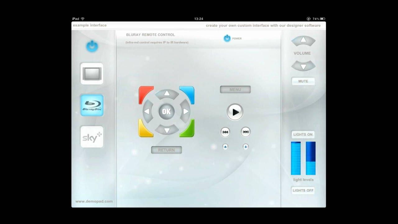 iPad Control Home Automation App from www.demopad.com free app - YouTube
