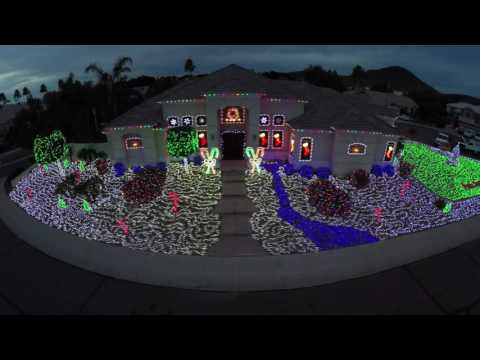 Christmas lights display Arizona drone video