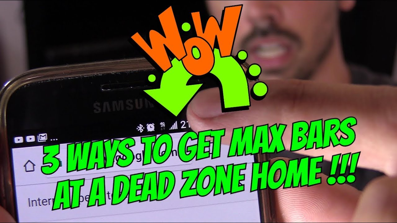 3 FREE WAYS TO BOOST CELL PHONE SIGNAL AT DEAD ZONE HOME