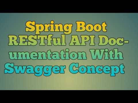 114.Spring Boot RESTful API Documentation With Swagger Concept