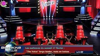 """Les audiences du samedi 17 février :  """"The Voice"""" large leader, mais en baisse"""