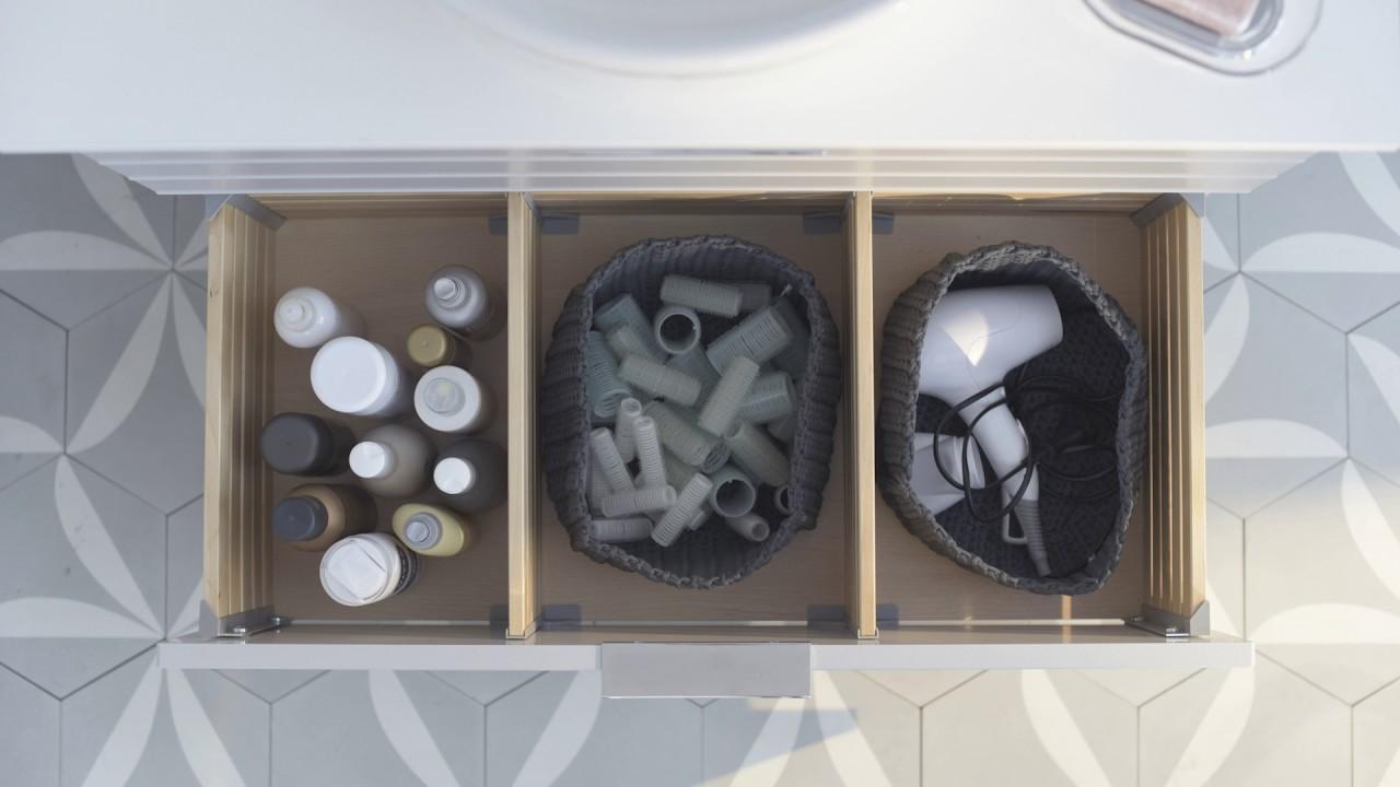 IKEA idee - Orde als kunstvorm: opbergen in de badkamer - YouTube