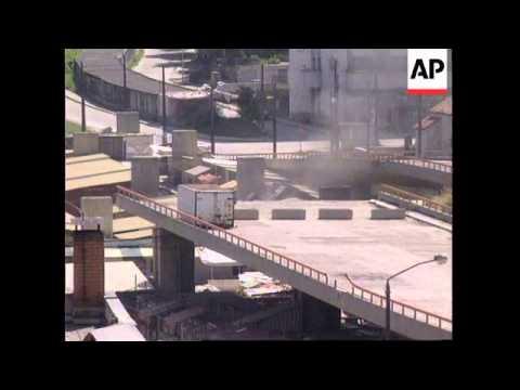 BOSNIA: SARAJEVO: BOSNIAN SERB GUNNERS TARGET CITY CENTRE