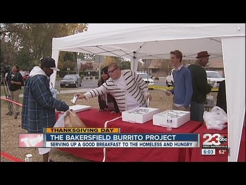 Bakersfield Burrito Project served breakfast to the homeless and hungry