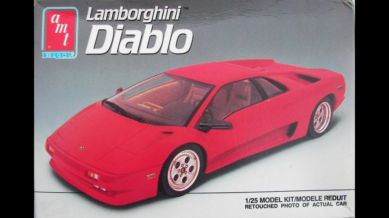 Model Kit Review Amt Lamborghini Diablo 08 07 14 Youtube