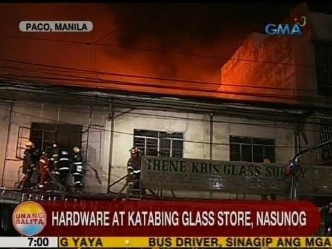 UB: Hardware at katabing glass store sa Paco, Manila, nasunog