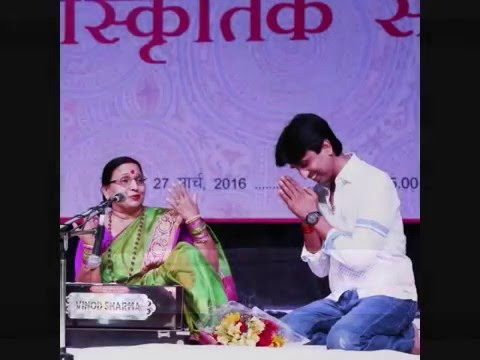 Sharda Sinha with Kumar Vishwas @sirifort Auditorim -moments of Grace