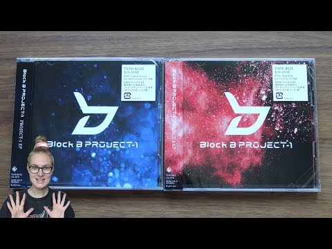 Unboxing BLOCK B PROJECT-1 1st Japanese EP Album [Both Blue & Red Edition]