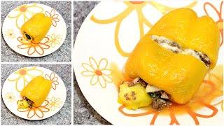 Pimentão recheado com soja (vegetariano) - Mestre Tuka ♡