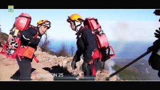BMPM: renfort feu de forêts en corse.