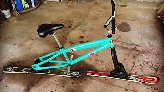How To Make A Ski Bike | Homemade Snow Bike