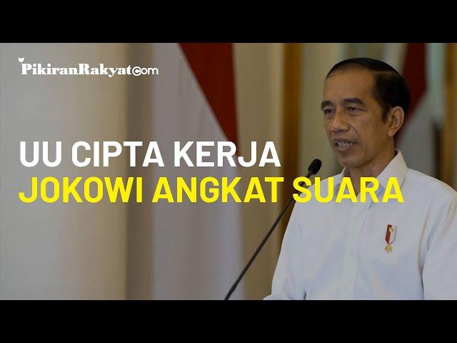 Jokowi: UU Cipta Kerja Butuh Peraturan Pemerintah dan Perpres