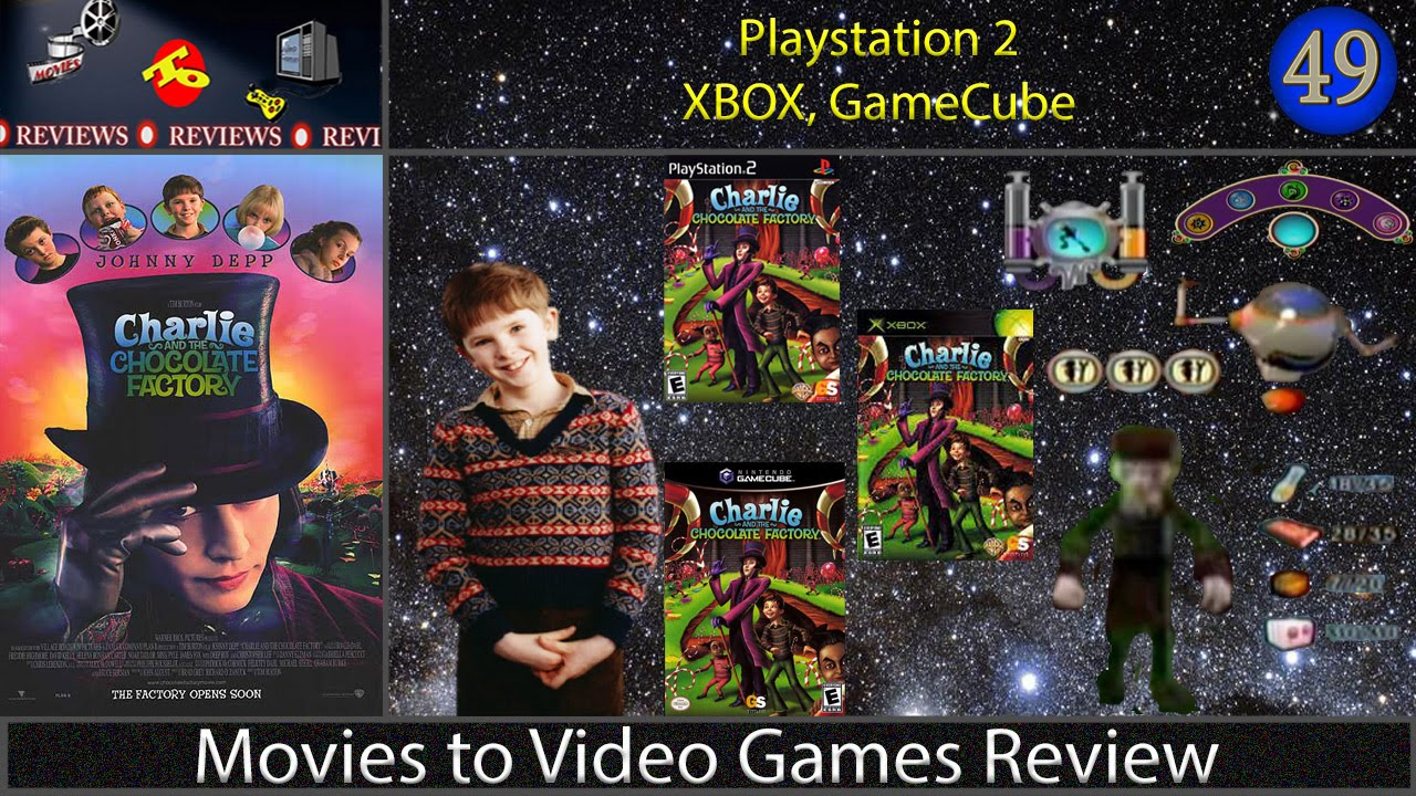 Movies To Video Games Review Charlie And The Chocolate Factory Ps2 Xbox Gamecube Youtube