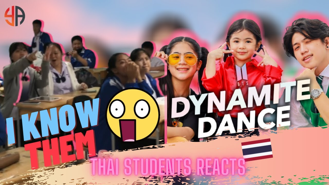 THAI STUDENTS KNEW Ranz and Niana performing Dynamite